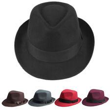 Men Women Fedora Hats Trilby Caps Panama Sunhat Sunbonnet Sombrero Felt Size M