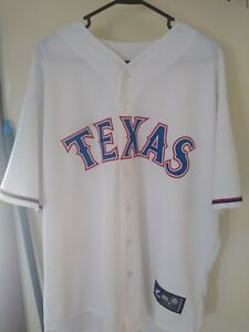 Majestic Texas Rangers Official Home White Replica Men's 2XL Button-Up Jersey