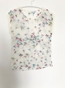 NEXT Tshirt 8 Womens Top Semi Sheer Animal Print Birds S M Tunic Blouse Cami x