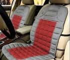 Zone Tech 2x Gray Car Heated Seat Cover Cushion Warmer 12V Heating Warming Pad