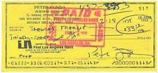Peter Fonda Signed Easy Rider Authentic Autographed Check (PSA/DNA) #U71918