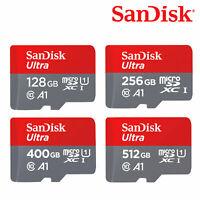 SanDisk MicroSDXC 128GB /256GB /400GB/ 512GB Ultra A1 UHS-I U1 + SD Adapter
