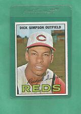 1967 Topps Cincinnati Reds Dick Simpson # 6 NM-MT Low Pop!!