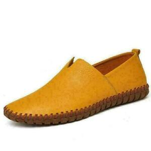 Men's Loafers Casual Breatheble Anti-skid Genuine Leather Slip On Driving Shoes
