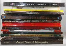Lot/Collection of 23 RPG Books D&D Shadowrun Weird War 3rd Edition White Wolf