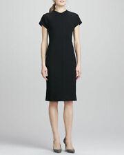 DIANE VON FURSTENBERG DVF MAIZAH Front Zip Black Belted Sheath Dress Size 12