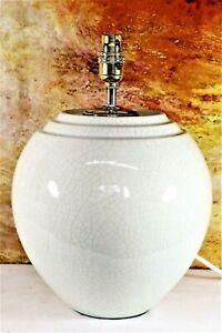Table Lamp A Large Vintage Ceramic Lamp Crackle Glaze Bulbous Art Deco Style