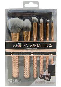 Royal Langnickel Moda Metallics 7 Piece Total Face Flip Kit Rose Gold