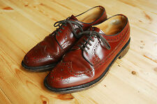 Men's Brown Leather Classic Brogues by Loake made in England UK 7.5 EX