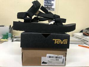 TEVA Mens Brown Black Ankle Strap Open Toe Athletic Sport Sandals Size 9 F27019L