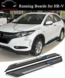 2PCS Running Boards Side Step Nerf Bars fits for Honda HRV HR-V 2016-2021