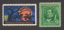THE LEGEND OF SLEEPY HOLLOW - WASHINGTON IRVING - 2 U.S. STAMPS - MINT CONDITION