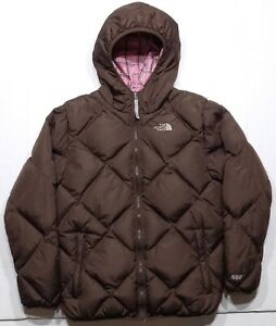 The North Face Reversible 550 Goose Down Puffer Jacket Girls Youth XL 18