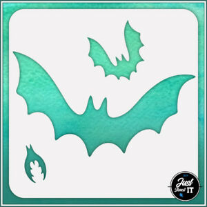 Bats #1 - durable and reusable stencil for DIY painting & crafts