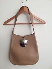 Salvatore Ferragamo tan minimalist hobo shoulder bag with feature buckle