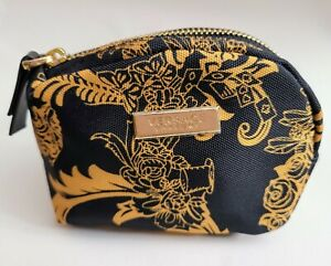 Versace Parfums Black And Gold Baroque Black Gold Luxury Coin Pouch Purse Charm