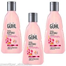 3x 250ml Guhl Tiefenaufbau Shampoo Monoi Öl + Keratin Komplex geschädigtes Haar