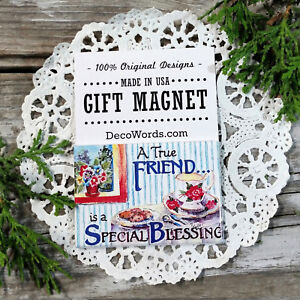 A True Friend is a Special Blessing * Fridge Magnet * Gift Favor New in Pkg USA