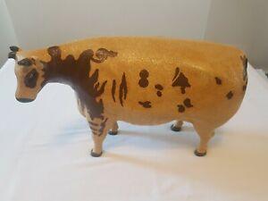 Vintage Resin Cow Figure/ornament.
