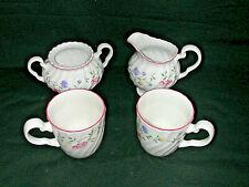 Johnson Brothers Summer Chintz Lot Of 4 Pcs 2 Mugs Creamer Sugar No Lid EUC
