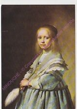 CARTE POSTALE TABLEAU JOHANNES CORNELISZ VERSPRONCK Portrait jeune fille en bleu
