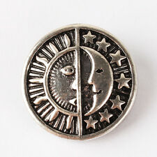 Moon & Sun Alloy Snaps Chunk Charm Button Fit for Noosa DIY Jewelry NS360