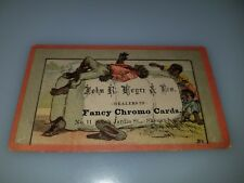 ANTIQUE VICTORIAN TRADE CARD JOHN R ROYER & BRO FANCY CARD PRINTER BLACK AMERICA