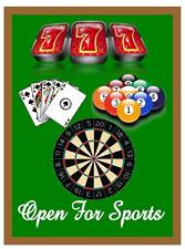 Games Rooms Sports Darts Poker Pool Room Pub Sign Bar Sign