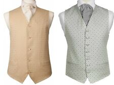 WEDDING SILVER GREY & GOLD IVORY DIAMOND SUIT WAISTCOAT CHRISTMAS XMAS PRESENT