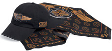 HARLEY DAVIDSON 110TH ANNIVERSARY LOGO BANDANA WITH BALL CAP HAT