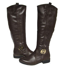 New Women's Riding Boots Brown Shoes Fur Lined Winter Snow Ladies size 7