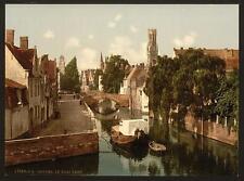 Quai Vert Bruges A4 Photo Print