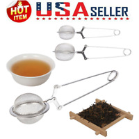 1/4 Pack Tea Mesh Stainless Ball Shape Tea Infuser Steel Strainer with Handle