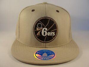 Philadelphia 76ers NBA Adidas Flex Hat Cap Size L/XL Khaki
