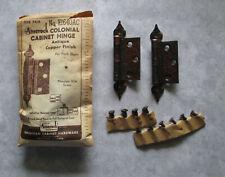 """Vintage H Hinge 3//8/"""" offset Swedish Iron finish 3"""" long Amerock # E 1652SI"""