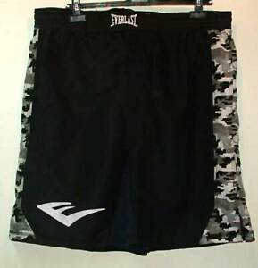 Everlast wrestling MMA shorts Black X large  camo