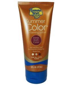 NEW! Banana Boat Summer Color Self-Tanning Lotion Deep Dark Color FREE SHIPPING!