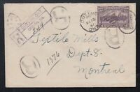Canada 1937 13c Confederation REGISTERED Cover Dutton to Montreal