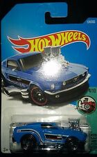 HOTWHEELS 4/10 TOONED FORD 68 MUSTANG BLUE 124/365 HOT WHEELS