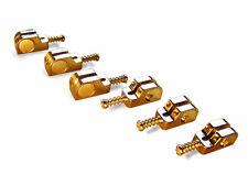 Babicz Full Contact Hardware Stratocaster Saddle Kit - Gold
