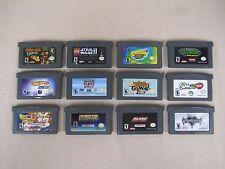 (Lot of 12) Gameboy Advance Games - Donkey Kong, Dragonball Z, Crash & More*