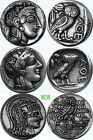 Athena, Goddess of Wisdom, Three Coins, Three Versions, of Athena and Owl