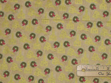 Silent Night Churches Cream Religious Christmas Fabric by the 1/2 Yard #12191