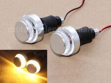 Pair Motorcycle Turn Signal LED Light Indicator Blinker Handle Bar End Handlebar