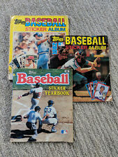 Topps Baseball Sticker Albums 1981 & 1984 *completed* and 1982 *near complete*