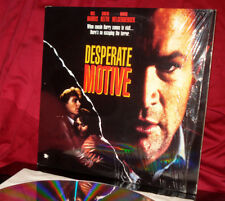 Rare! 'DESPERATE MOTIVE' - R-Rated Thriller on Laser Disc. Shrink
