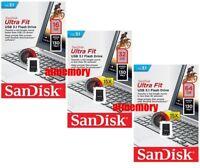 SanDisk Ultra Fit 16GB 32GB 64GB 128GB 256GB USB Flash Drive lot CZ430 USB3.1 US