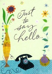 Friendship Friends Hello Black Telephone Theme Hallmark Greeting Card