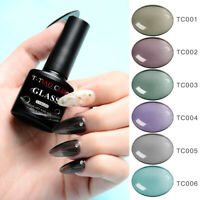 T-TIAO CLUB 6 Colors Glass Crystal Jelly Gel Nail Polish UV Varnish Manicure DIY