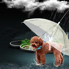 Transparent Pet Dog Cat Umbrella with Built-in Leash Puppy Dry in Rain Xmas Gift